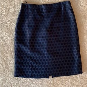 Navy jcrew pencil skirt